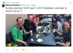 GIMP Breakfast on Sunday