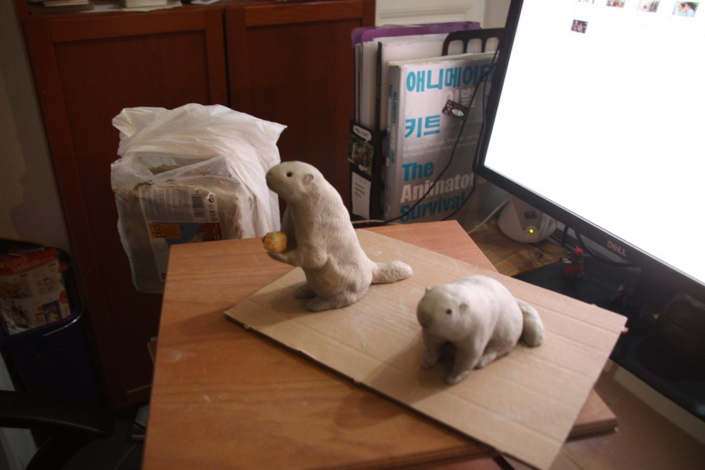 The first 2 marmots, side by side.