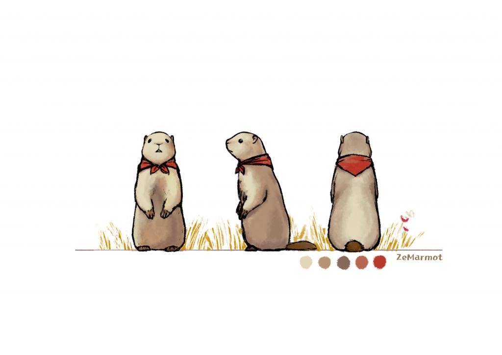 Marmot: character design 3