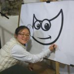 Aryeom drawing Wilber (photo by Schumaml)