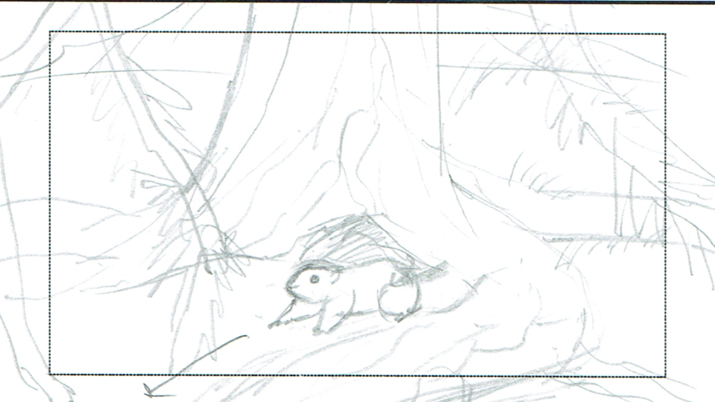 Storyboard: burrow entrance